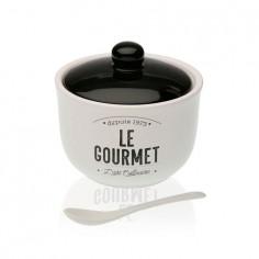 Azucarero o salero porcelana Le Gourmet con cuchara Versa