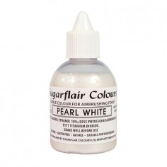 Colorante para aerógrafo blanco perla Sugarflair 60ml