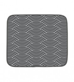 Dish Drying tapete escurridor de platos gris olas
