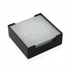 Set 6 posavasos cristal Mandalas Versa
