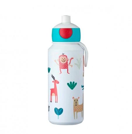 Botella agua reutilizable niños Animal Friends 400ml Mepal