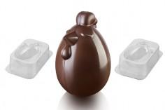 Molde para chocolate gallina Lady Cocoa 3D Silikomart