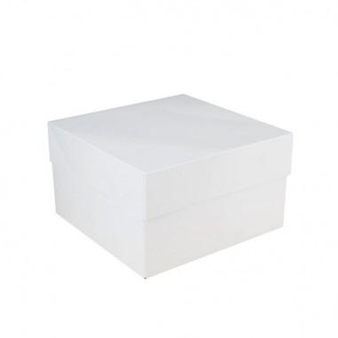 Caja para tarta alta blanca 30x30x15cm - Casa Rex