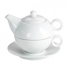 Set té individual porcelana